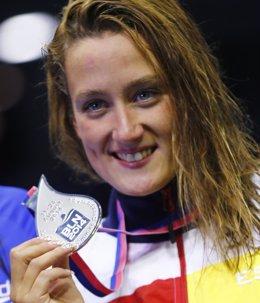 Foto: Belmonte consigue su tercera medalla (REUTERS)