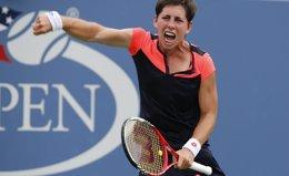 Foto: Difícil camino para Carla Suárez y Garbiñe Muguruza en el US Open (REUTERS)