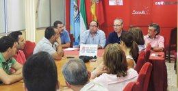 """Foto: Durán (PSOE-A) critica que Moreno (PP-A) """"siga los pasos"""" de Arenas y solo salga públicamente """"para la foto"""" (EUROPA PRESS/PSOE DE HUELVA)"""