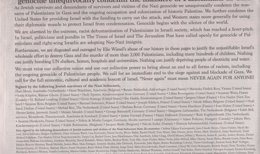 """Foto: Supervivientes del Holocausto firman una carta que condena """"la masacre de palestinos en Gaza"""" (NEW YORK TIMES)"""