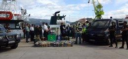 Foto: Interceptan un velero con 800 kilos de cocaína rumbo a Galicia que podrían haberse vendido por 28 millones (EUROPA PRESS/REMITIDO)