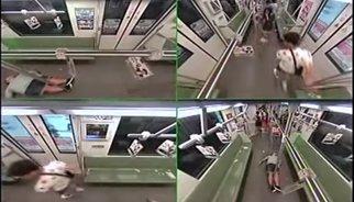 Así reaccionan los pasajeros ante un desmayo en el metro de Shanghai