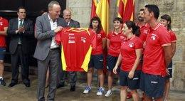 Foto: Fabra anuncia que la Pilota Valenciana será el primer deporte declarado BIC de la Comunitat Valenciana (GVA)