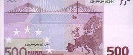 Foto: Los billetes de 500 euros bajan en julio hasta los 76 millones y siguen en niveles de 2005 (BANCO DE ESPAÑA)