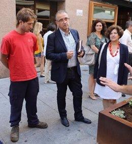 Foto: Colocadas ocho jardineras en la calle Tafalla de Pamplona (EP/AYUNTAMIENTO DE PAMPLONA)