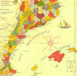 """Foto: 'No hablamos catalán' detecta que la Generalitat """"se apropia"""" de 6 comarcas aragonesas en su revista de lengua y Derecho (EUROPA PRESS/REMITIDO)"""