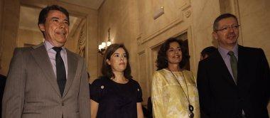 """Foto: Santamaría ve necesario que Rajoy aspire a otro mandato porque es la persona """"idónea para consolidar la recuperación"""" (EUROPA PRESS)"""