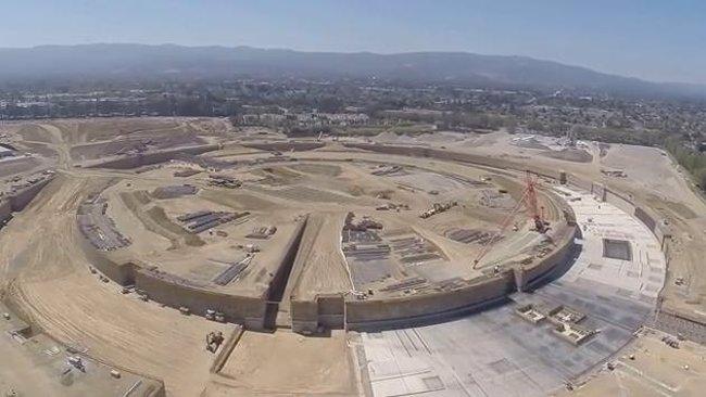Foto: Las obras del Campus 2 de Apple a vista de dron (JMCMINN)