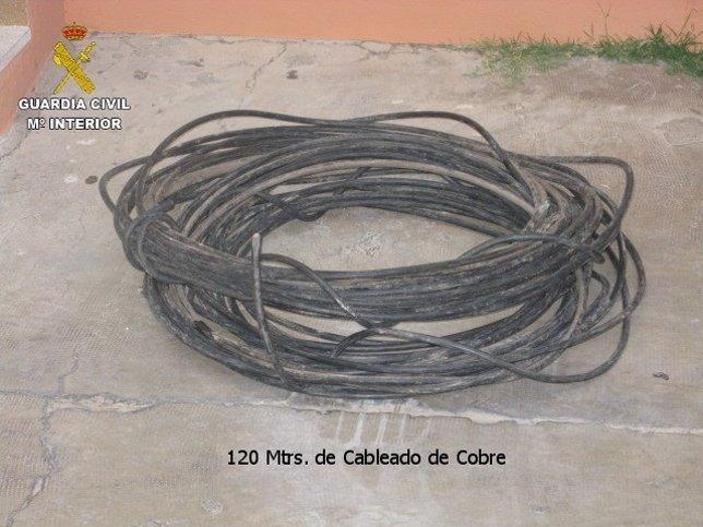 Cable de cobre sustraído de la línea del AVE en Requena