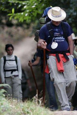 Foto: El número de peregrinos a Santiago aumenta en casi 4.500 en agosto respecto a 2013, hasta 51.219 (EUROPA PRESS)