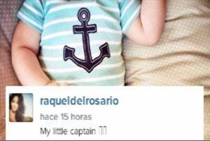 """Raquel del Rosario feliz con """"su pequeño capitán"""""""