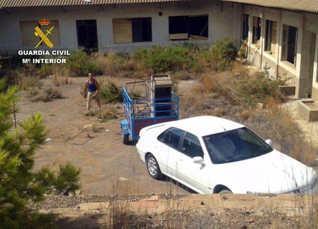Individuo sorprendido por la Guardia Civil robando objetos de interés cultural