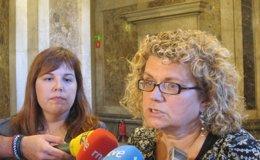 Foto: Las diputadas del PSC Marina Geli y Núria Ventura irán a la 'V' de la Diada (EUROPA PRESS)