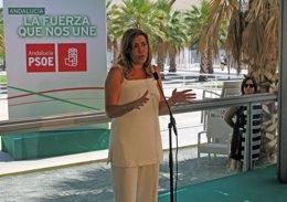Foto: Díaz comparte el calendario de Sánchez sobre primarias e insiste en que no optará porque su compromiso es con Andalucía (EUROPA PRESS)