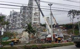Foto: La demolición de las torres del edificio Space en Medellín será el 23 de septiembre (TWITTER)