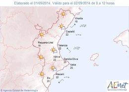 Foto: L'interior de València està en avís groc per altes temperatures, que poden arribar als 38 graus (AEMET)