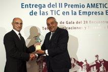 Inditex recibe el 'Premio al impulso de las TIC en la Empresa Española' de AMETIC