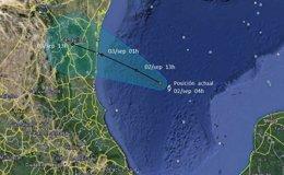 Foto: La tormenta tropical 'Dolly' golpea la costa mexicana del Atlántico ((SMN))