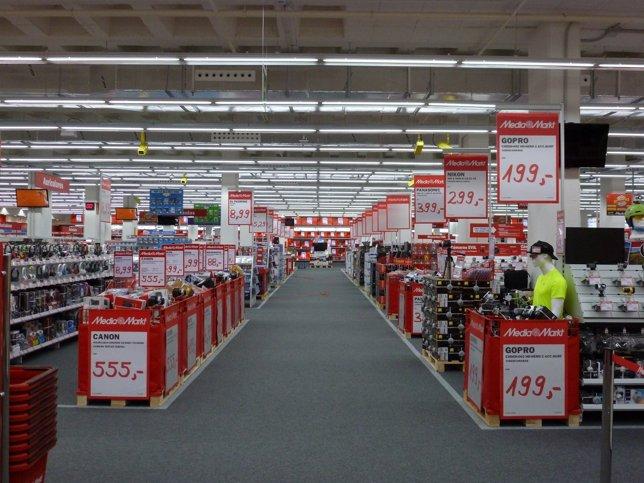 Imagen de archivo de un centro de Media Markt