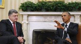 Foto: Obama se compromete con Poroshenko a aumentar la cooperación en seguridad y defensa (REUTERS)