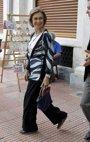 Foto: La Reina Sofía asiste a la comida ofrecida por Constantino y Ana María de Grecia