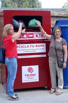 Foto: Alcañiz dispone de cinco contenedores para recogida de ropa usada (AYUNTAMIENTO)