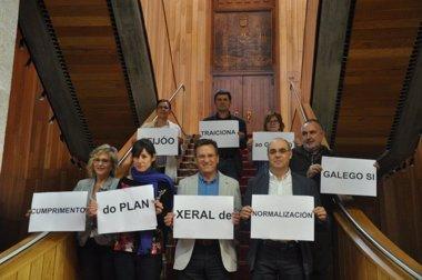 """Foto: El BNG denuncia el """"incumplimiento"""" del Plan de Normalización Lingüística (EP/BNG)"""