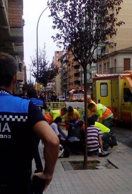 Foto: Siguen buscando al agresor que apuñaló a cinco personas en Lleida el lunes (EUROPA PRESS)