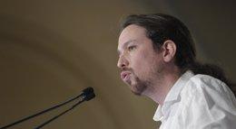 """Foto: Pablo Iglesias califica a Sánchez de """"decepcionante"""" y le acusa de tener los mismos argumentos que la """"extrema derecha"""" (EUROPA PRESS)"""