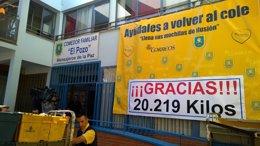 Foto: Mensajeros de la Paz recibe más de 20 toneladas de material escolar (MENSAJEROS DE LA PAZ)