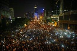 """Foto: China no se someterá a las """"amenazas ilegales"""" de los manifestantes (CARLOS BARRIA / REUTERS)"""
