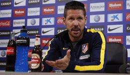 """Foto: Simeone: """"No espero una Juventus que se encierre atrás"""" (Á. GUTIÉRREZ)"""