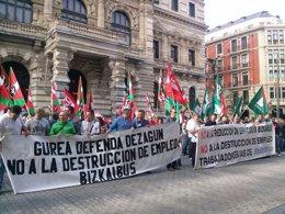 Foto: Sindicatos de Bizkaibus mantienen los paros (EUROPA PRESS)