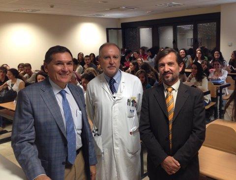 Tomás Chivato, José Barberán y Jesús Peláez
