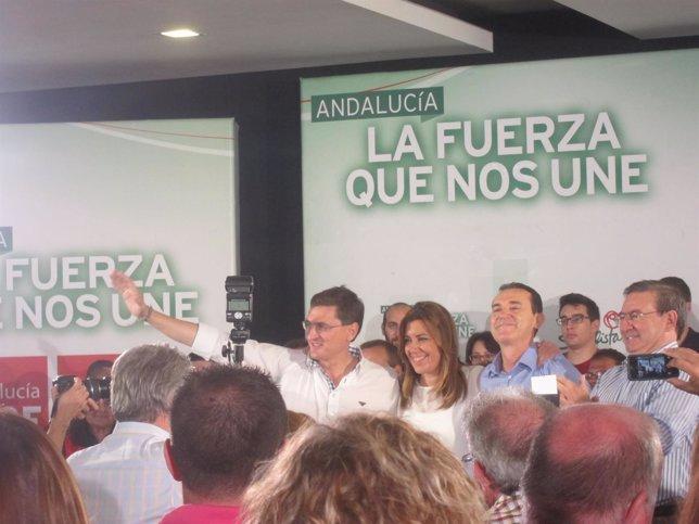 Díaz junto a Pérez Navas y Sánchez Teruel