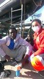 Foto: Dos migrantes, hospitalizados en Ceuta tras dos días a la deriva junto a otros cinco subsaharianos