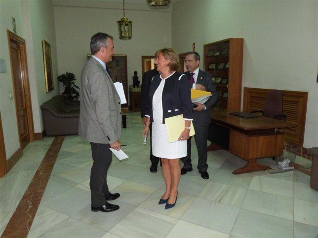 La presidenta de la DPT, Carmen Pobo, en el pleno de septiembre