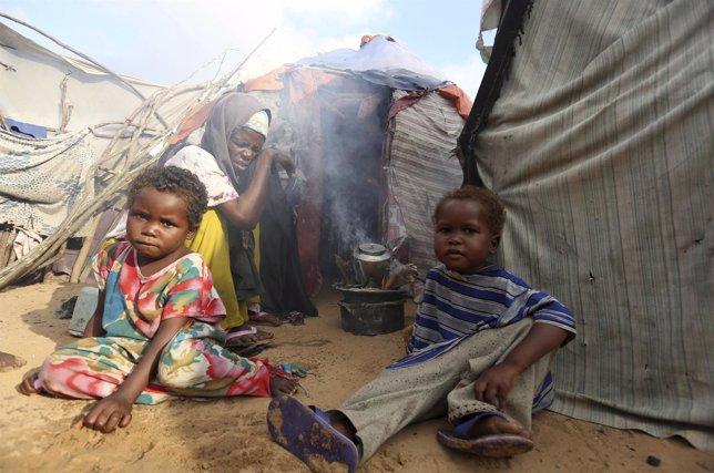 Campo de refugiados en Somalia