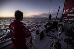 Foto: La flota de la Volco Ocean Race busca los Alisios (FRANCISCO VIGNALE/MAPFRE/VOLVO OCEAN RACE)
