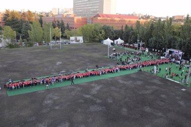 Foto: Madrid acoge la melé más grande del mundo (RON SANTA TERESA )
