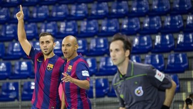 Foto: El FC Barcelona, segundo tras golear al D-Link Zaragoza (GERMAN PARGA - FCB)