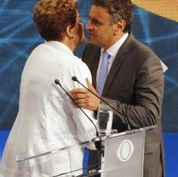 Foto: Brasil.- Rousseff y Neves bajan el tono en su segundo cara a cara en televisión (REUTERS)