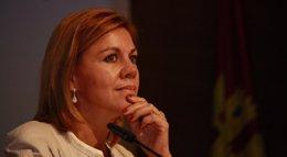 """Foto: Cospedal defiende que el congreso del PP de Gijón se ha desarrollado con """"normalidad"""" (EUROPA PRESS)"""