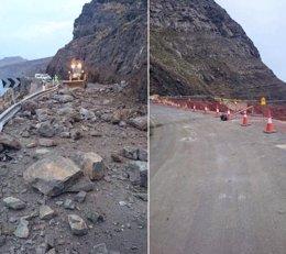 Foto: Abierta al tráfico la Carretera de La Aldea (Gran Canaria) (CEDIDO POR CABILDO DE GRAN CANARIA)