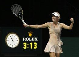 Foto: Wozniacki sorprende a Sharapova en la Copa de Maestras (EDGAR SU / REUTERS)