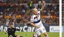 Foto: El Bayern se exhibe en Roma y deja con vida al City (STEFANO RELLANDINI / REUTERS)