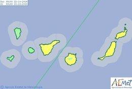 Foto: Decretado el riesgo amarillo en la provincia de Las Palmas y Tenerife (CEDIDO POR AEMET)