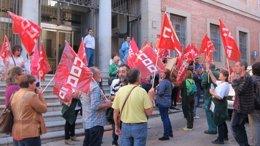 Foto: Trabajadores de Raspeig piden a la Junta que retire la concesión (EUROPA PRESS)