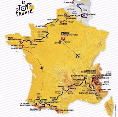 Foto: El Tour de 2015, diseñado para escaladores (HANDOUT / REUTERS)