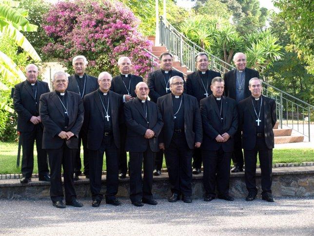 Asistentes a la CXXIX Asamblea Obispos del Sur